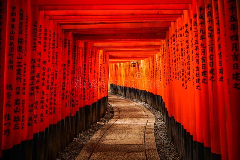 Fushimi Inari-taisha Shrine em Kyoto, Japão imagens de stock