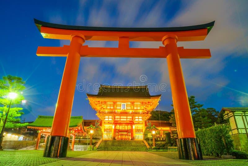 Fushimiinari Taisha ShrineTemple στο Κιότο, Ιαπωνία στοκ φωτογραφία