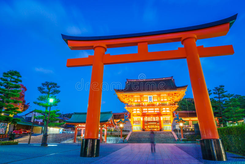 Fushimiinari Taisha ShrineTemple στο Κιότο, Ιαπωνία στοκ φωτογραφίες