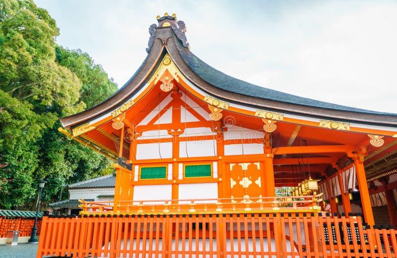Fushimiinari Taisha ShrineTemple i Kyoto, Japan royaltyfria bilder