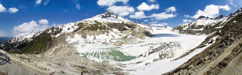 Fusión del glaciar de Rhone imagen de archivo libre de regalías