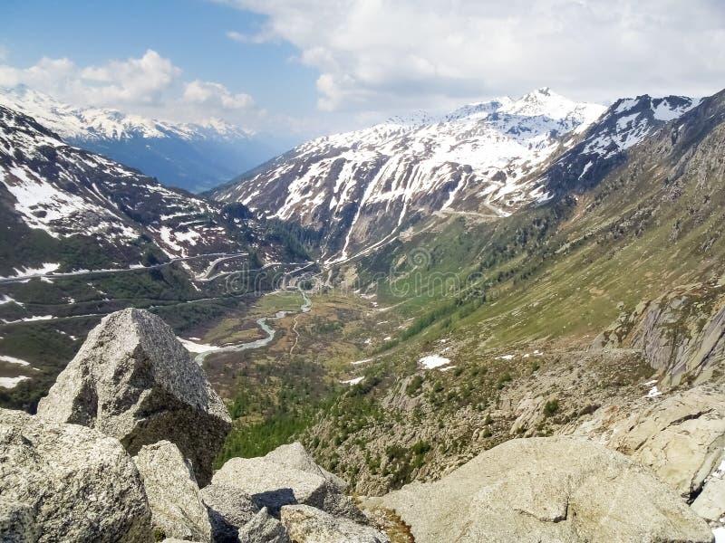 Fusión del glaciar de Rhone fotos de archivo libres de regalías