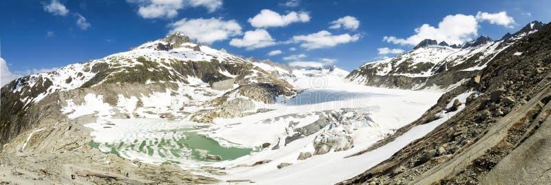 Fusión del glaciar de Rhone foto de archivo