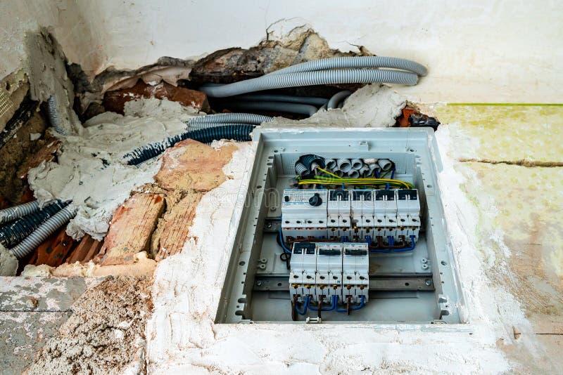 Fusible de puissance de l'électricité photo stock