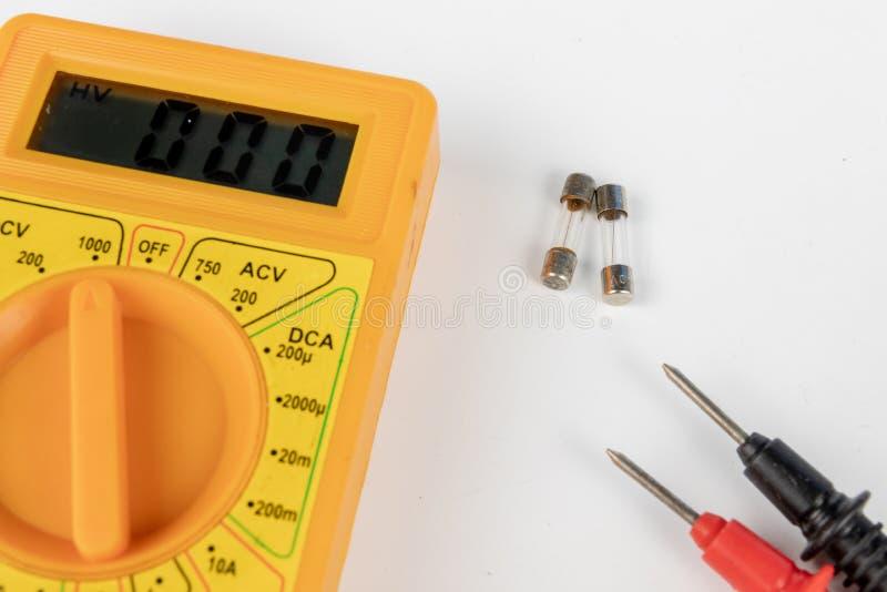 Fusible pour des dispositifs et des récepteurs électriques Accessoires et pièce de rechange photo stock
