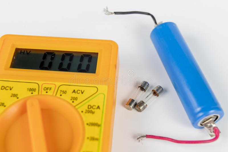 Fusible pour des dispositifs et des récepteurs électriques Accessoires et pièce de rechange image stock