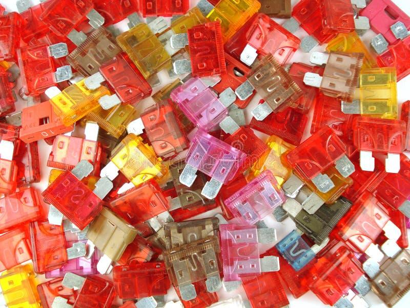 Fusibles multicolores image libre de droits