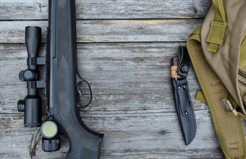 Fusil à air comprimé avec la vue télescopique photos stock