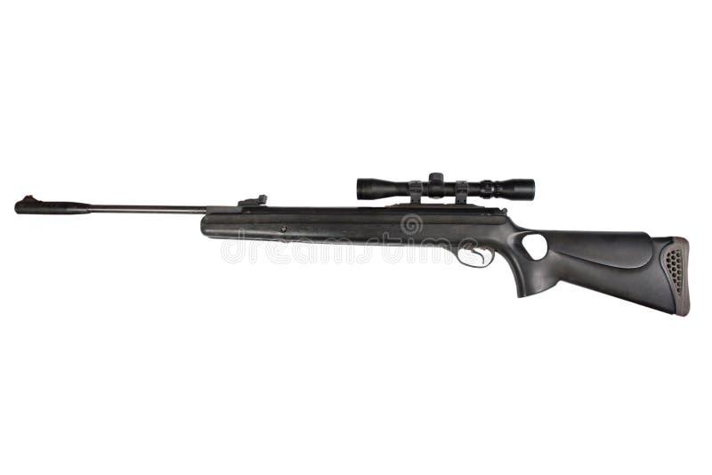 Fusil à air comprimé pneumatique avec l'appareil optique de visée images libres de droits