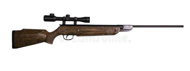 Fusil à air comprimé sur le fond blanc photos libres de droits