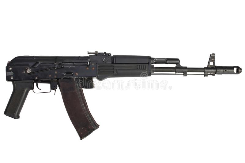 fusil d'assaut de la kalachnikov AK 74M photographie stock libre de droits