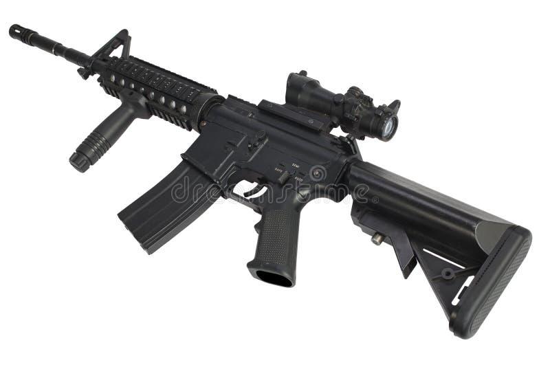 Fusil d'assaut M4 d'isolement image stock