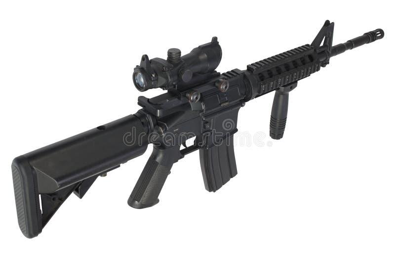 Fusil d'assaut M4 d'isolement photographie stock