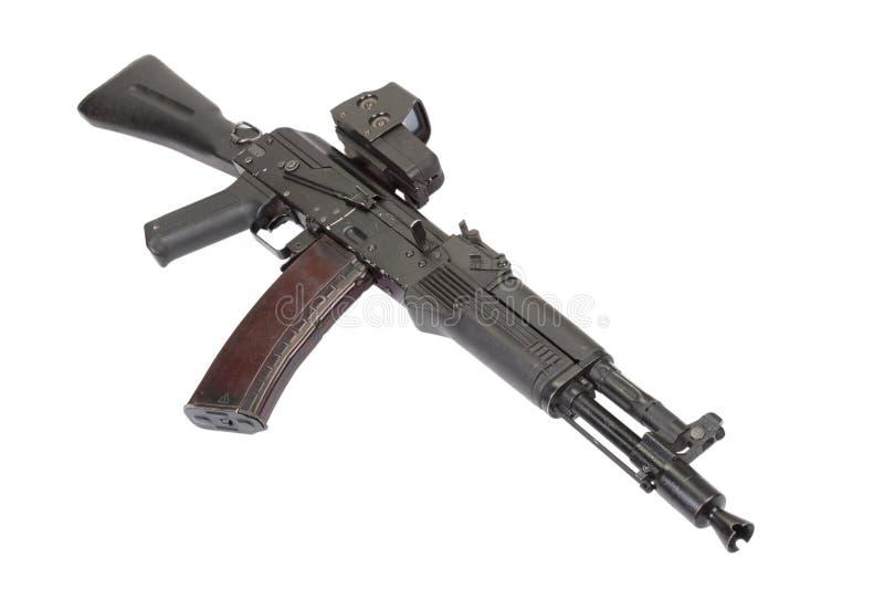 Fusil d'assaut moderne sur le blanc photographie stock