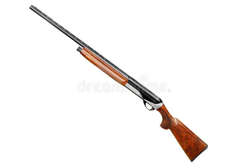 Fusil de chasse de chasse d'isolement sur le blanc photographie stock