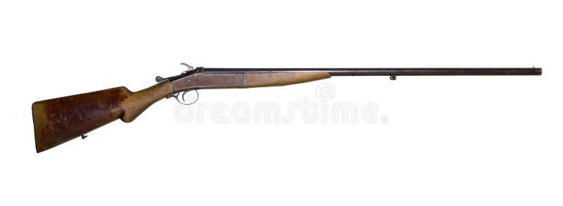 Fusil de chasse de indication de vintage sur le fond blanc photographie stock libre de droits