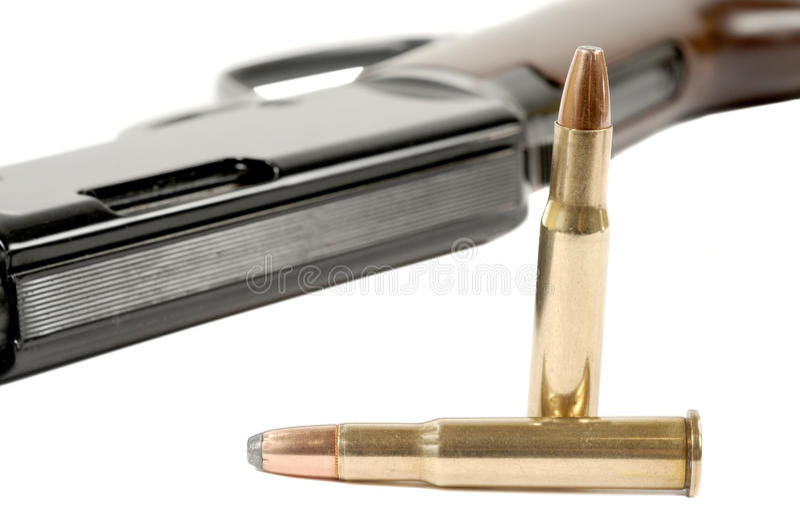 Fusil et remboursements in fine photographie stock libre de droits