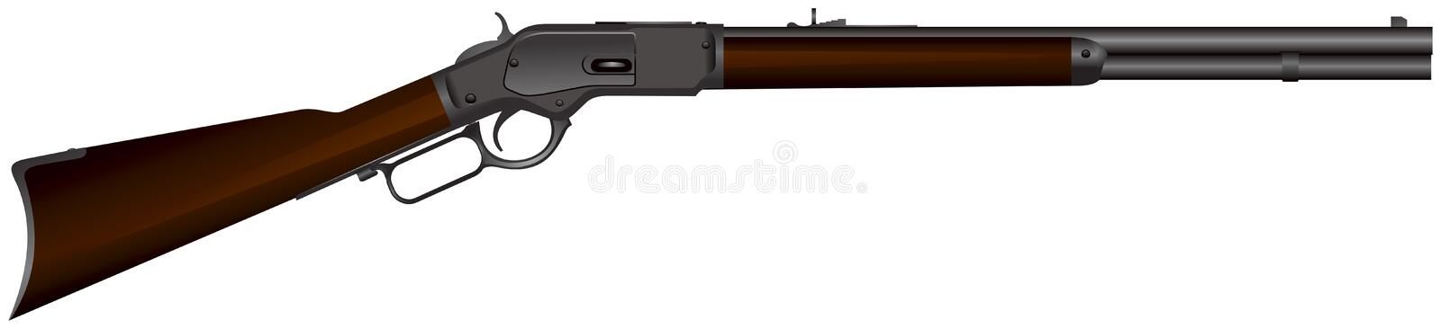 Fusil occidental sauvage illustration libre de droits