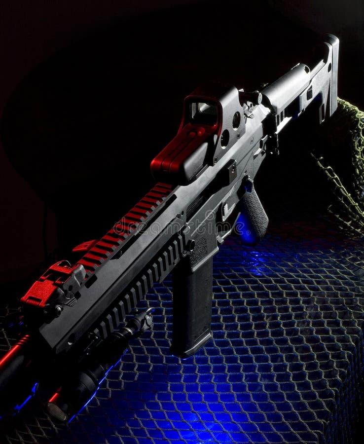 Fusil rouge, blanc et bleu photos libres de droits