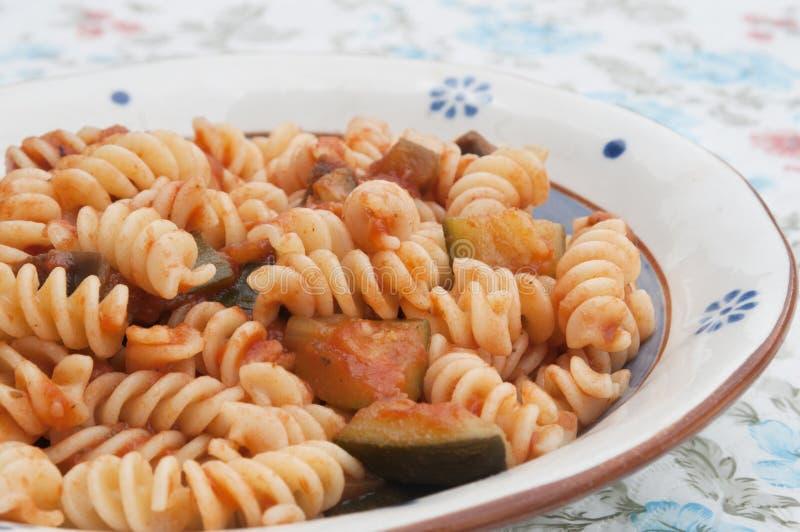 Download Fusilli stock image. Image of vegetarian, italian, sauce - 24392803