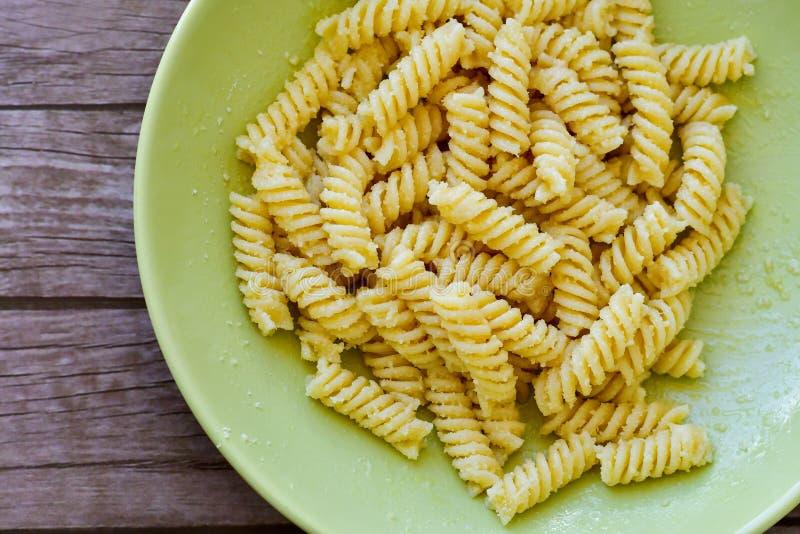 Fusilli pasta fotografering för bildbyråer