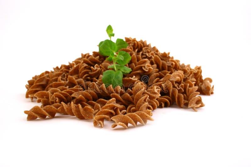 Fusilli twirls pasta stock images