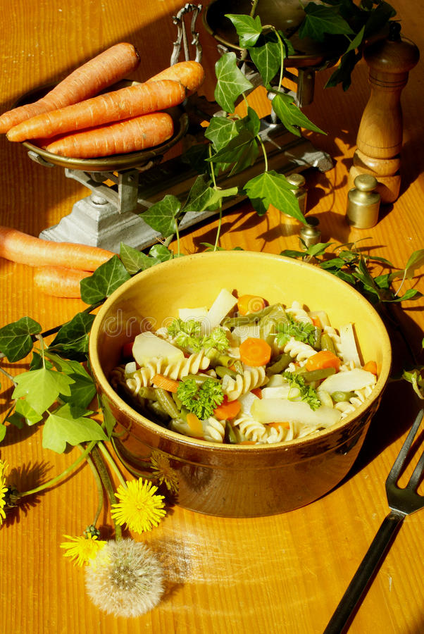 Download Fusilli with vegetables stock photo. Image of studio, carrot - 9541446