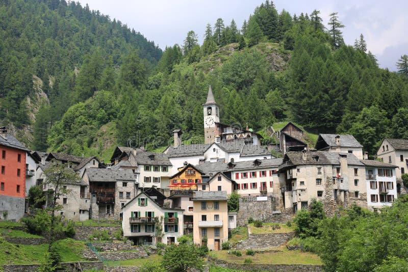 Fusio w Tessin, Szwajcaria obrazy stock