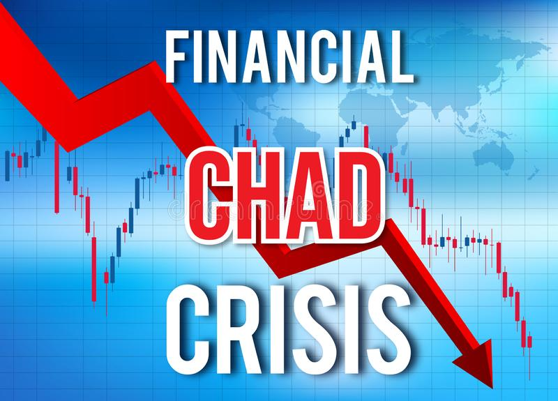 Fusion globale d'accident du marché de Chad Financial Crisis Economic Collapse illustration de vecteur