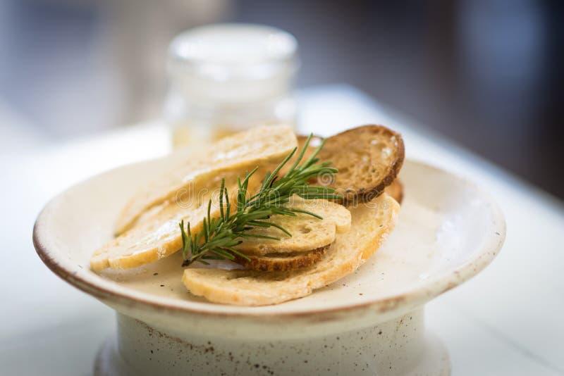 Crispy bread fusion snack royalty free stock photo