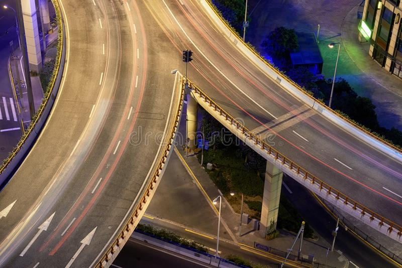 Fusion sur la route, Changhaï image libre de droits