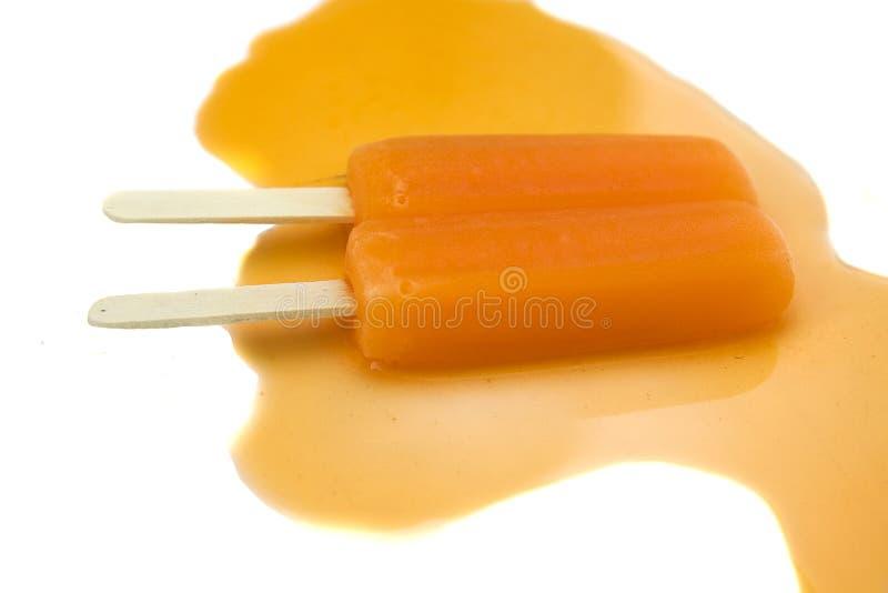Fusione del Popsicle immagini stock