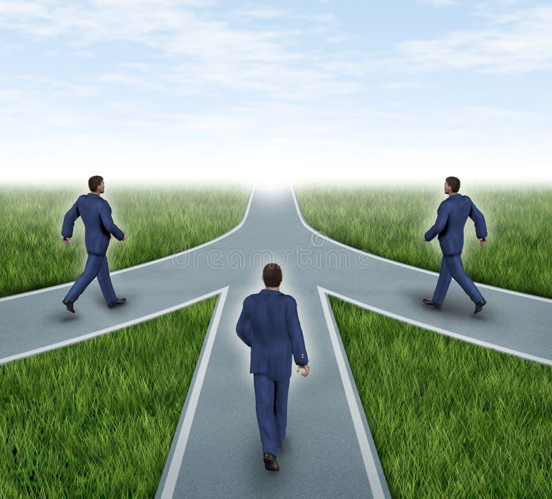 Fusionen und Teilhaberschaften lizenzfreie abbildung