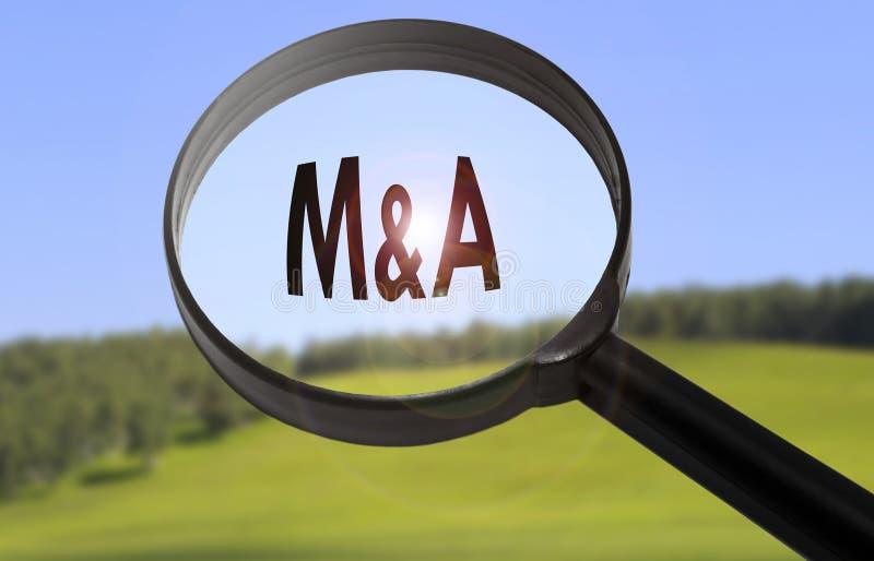 Fusiones y adquisición de M&A imagenes de archivo