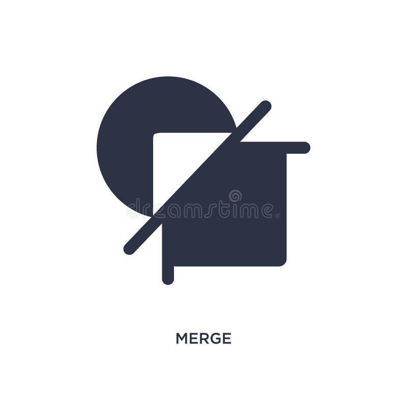 fusionnez l'icône sur le fond blanc Illustration simple d'élément de concept géométrique de figure illustration de vecteur
