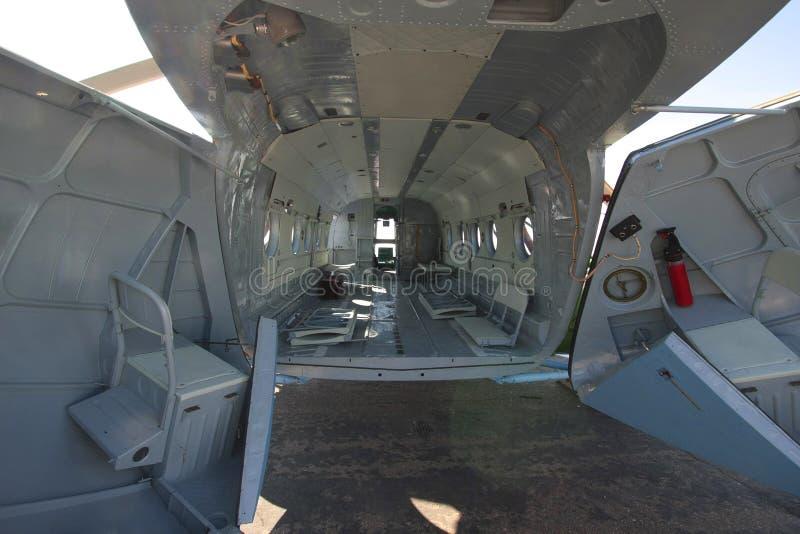 Fusoliera dell'elicottero merci immagini stock libere da diritti