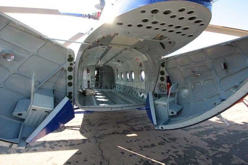 Fusoliera dell'elicottero merci fotografie stock libere da diritti