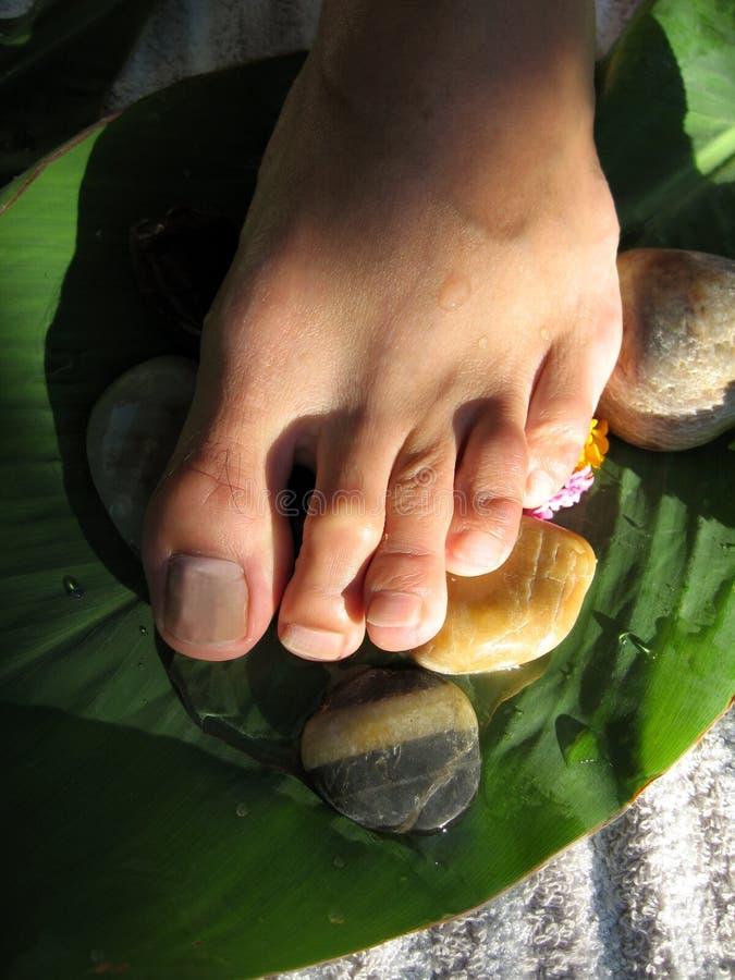 Fuss-Massage stockfotografie