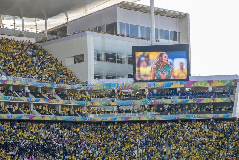 FUSSBALL-WELTMEISTERSCHAFT BRASILIEN 2014 stockbild