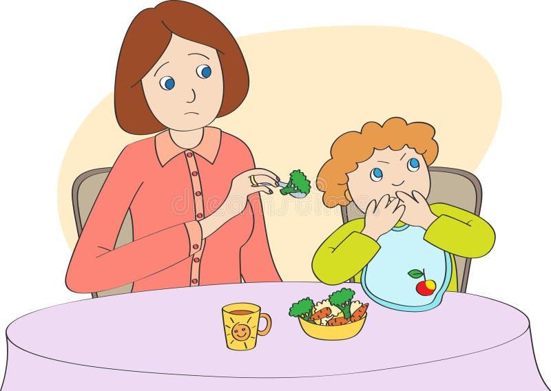 Fussy eater royalty free illustration
