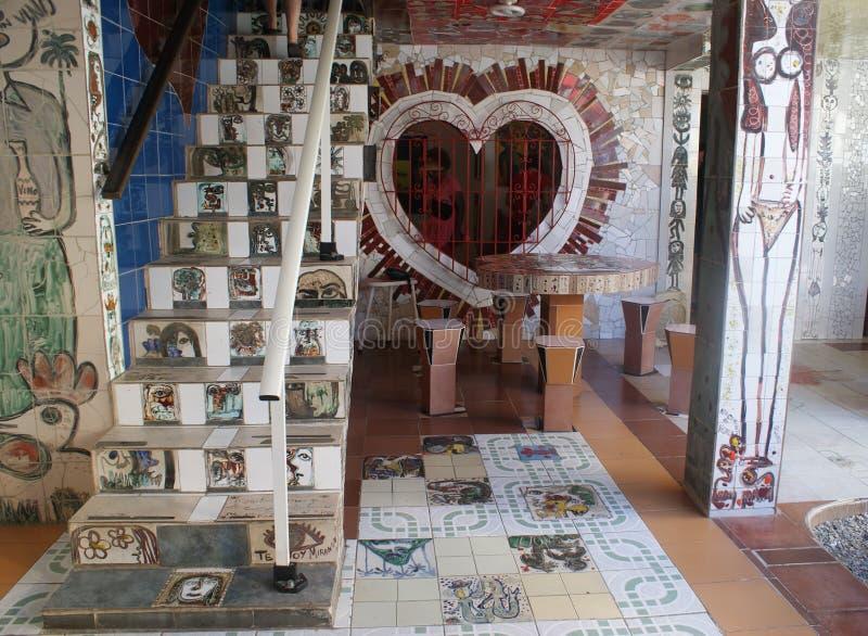 Fusterlandia在哈瓦那,古巴 免版税库存照片
