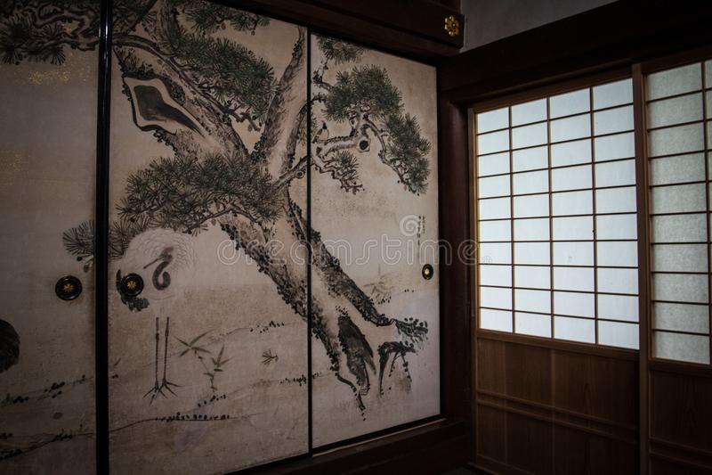 Download Fusuma In A Traditional Japanese Home Stock Image - Image of door paper & Fusuma In A Traditional Japanese Home Stock Image - Image of door ...