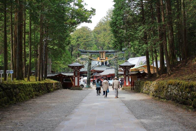 Futarasan relikskrin, Chugushi relikskrin, Nikko, Japan arkivfoto
