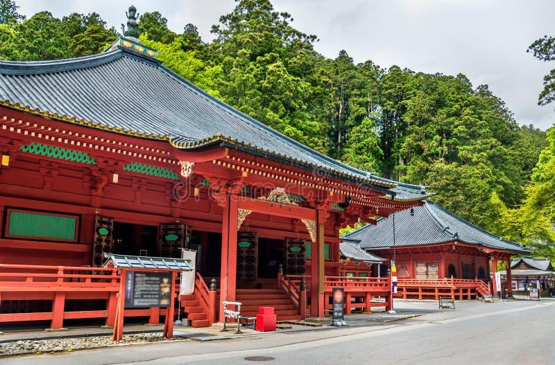 Futarasan relikskrin, en UNESCOvärldsarv i Nikko royaltyfria foton