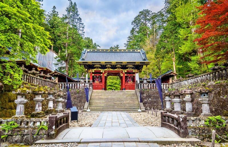 Futarasan relikskrin, en UNESCOvärldsarv i Nikko arkivbilder