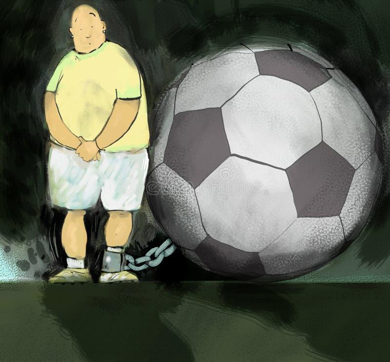 Futbol & łańcuch ilustracja wektor