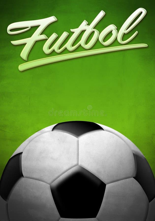 Futbol -足球-橄榄球西班牙人文本 库存例证