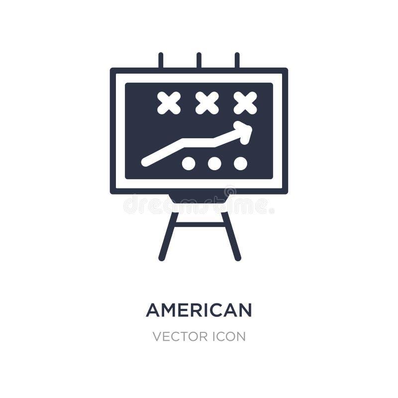 futbol amerykański strategii ikona na białym tle Prosta element ilustracja od futbolu amerykańskiego pojęcia ilustracja wektor