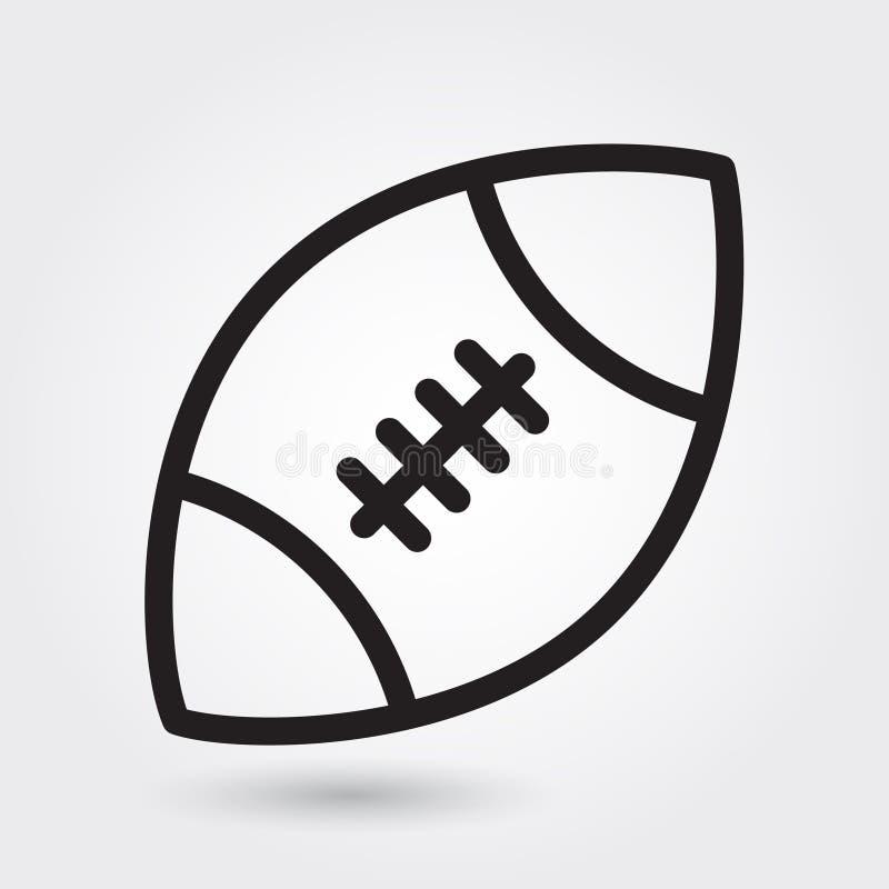 Futbol amerykański wektorowa ikona, sport piłki symbol Nowożytny, prosty kontur, konturu wektoru ilustracja royalty ilustracja