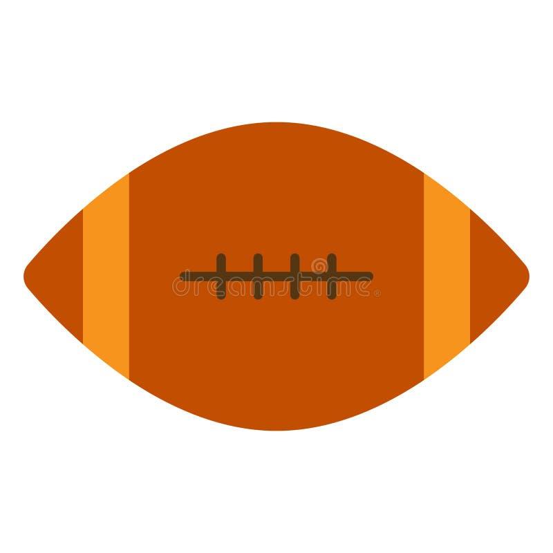 Futbol amerykański balowa ikona, wektorowa ilustracja ilustracja wektor